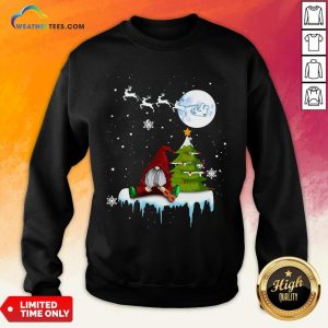 Young Funny Gnome Play Violin Merry Christmas Sweatshirt - Design By Weathertees.com