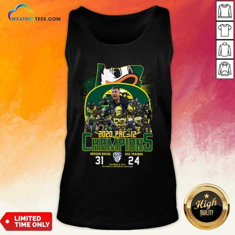 2020 Pac 12 Champions Oregon Ducks Usc Trojans Tank Top - Design By Weathertees.com