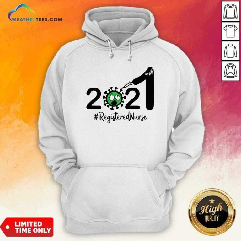 2021 Coronavirus #Registered Nurse Hoodie - Design By Weathertees.com