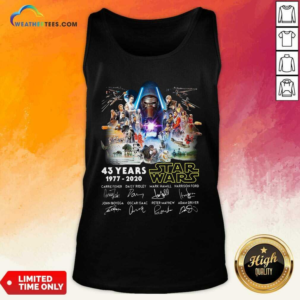 43 Years Star Wars 1977 2020 Signatures Tank Top - Design By Weathertees.com