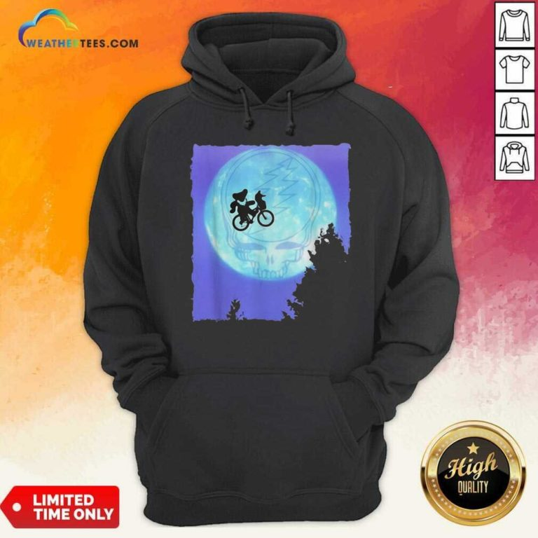 Bear Cycling The Moon Grateful Dead Hoodie - Design By Weathertees.com
