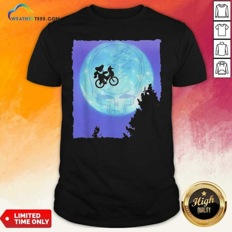 Bear Cycling The Moon Grateful Dead Shirt - Design By Weathertees.com