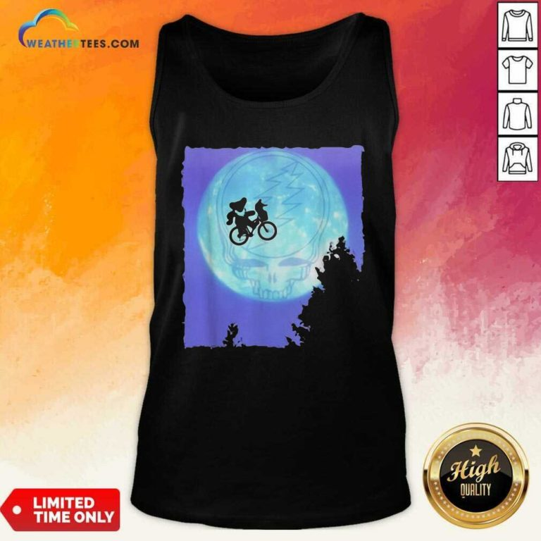 Bear Cycling The Moon Grateful Dead Tank Top - Design By Weathertees.com