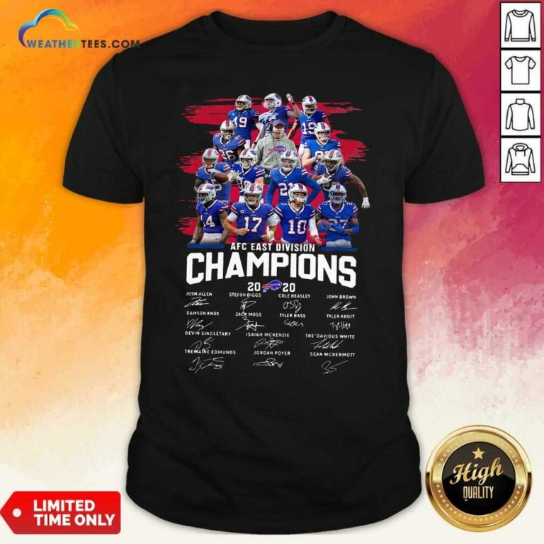Buffalo Bills AFC East Division Champions Signatures Shirt - Design By Weathertees.com