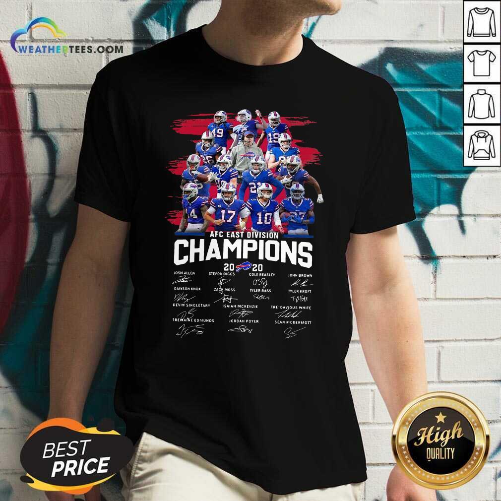 Buffalo Bills AFC East Division Champions Signatures V-neck - Design By Weathertees.com