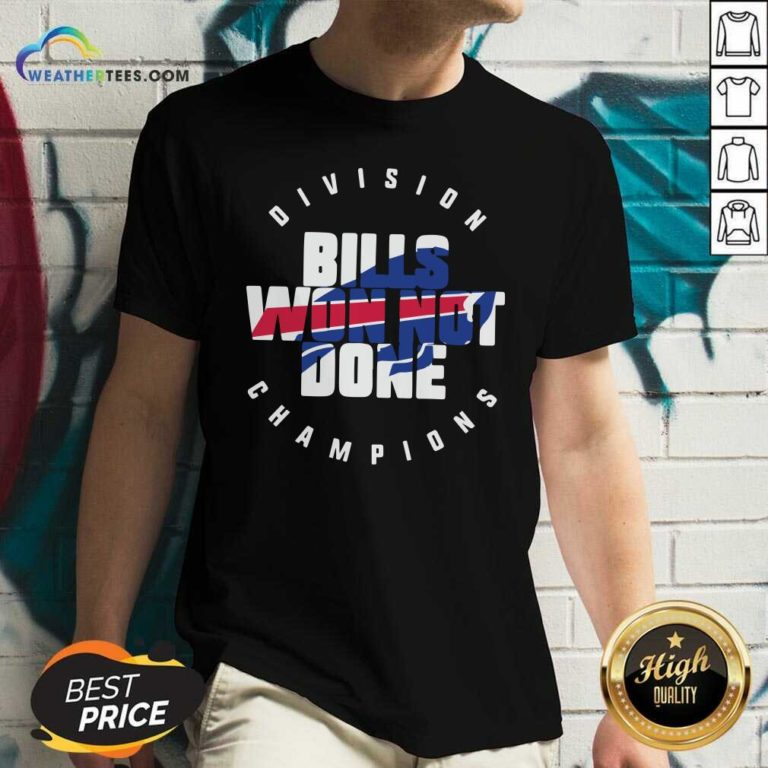 Buffalo Bills Won Not Done Division Champions V-neck - Design By Weathertees.com