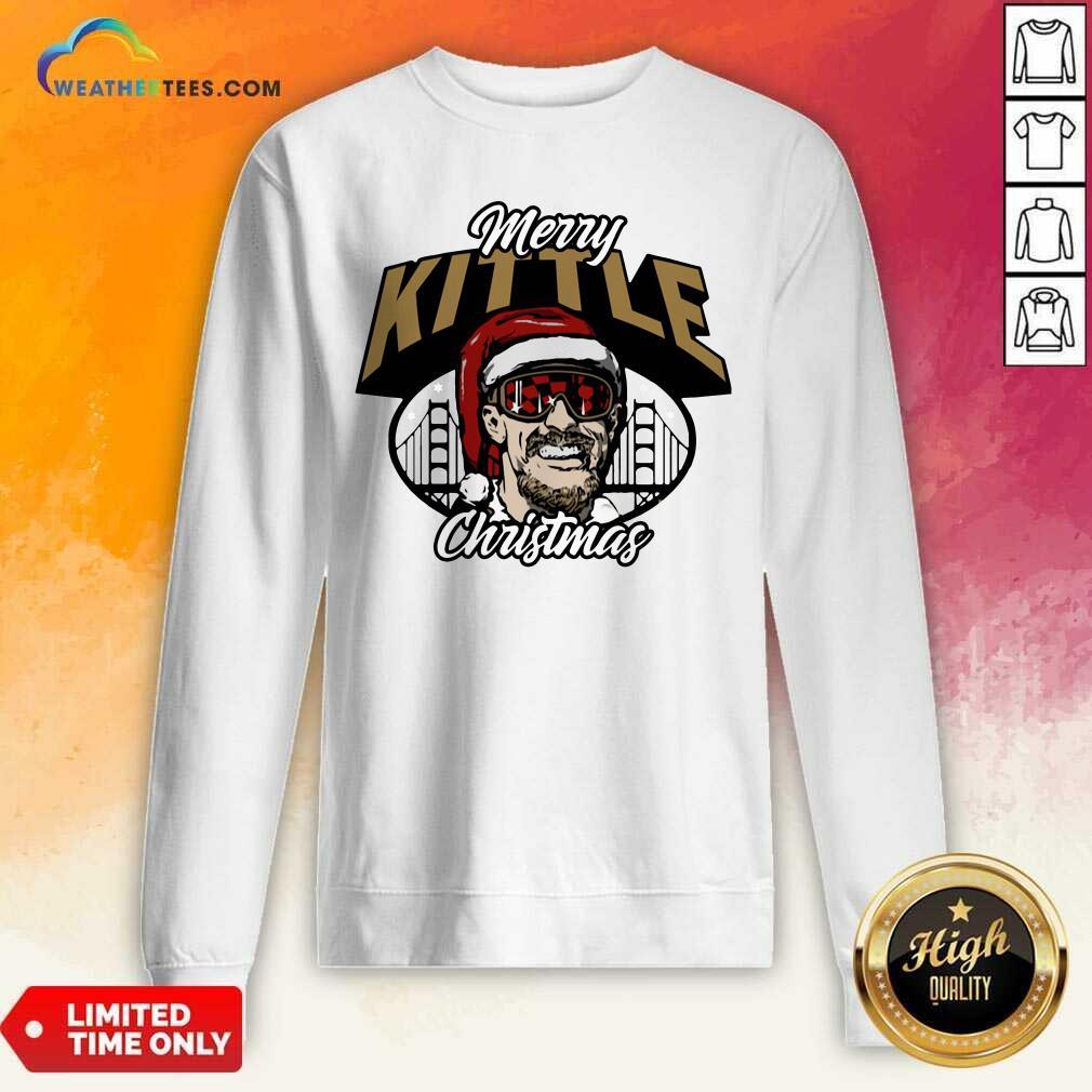 George Kittle Merry Kittle Christmas Sweatshirt - Design By Weathertees.com