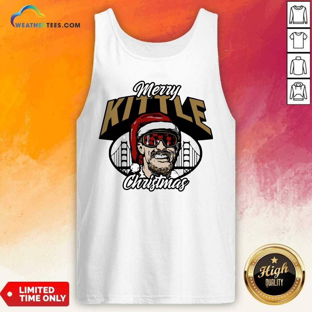 George Kittle Merry Kittle Christmas Tank Top - Design By Weathertees.com