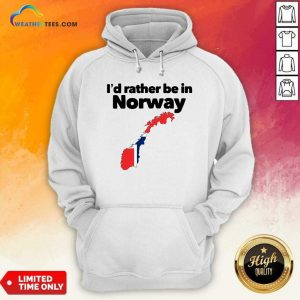 I'd Rather Be In Norway Hoodie - Design By Weathertees.com