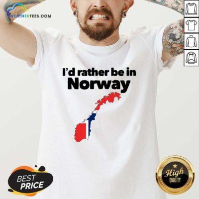 I'd Rather Be In Norway V-neck - Design By Weathertees.com