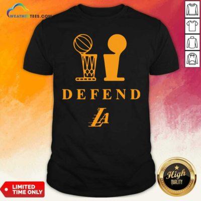 Lebron Lakers Trophy Defend Shirt - Design By Weathertees.com