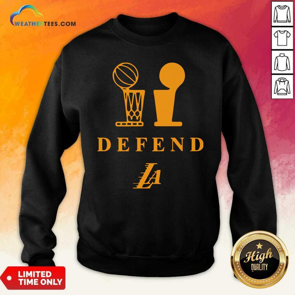 Lebron Lakers Trophy Defend Sweatshirt - Design By Weathertees.com