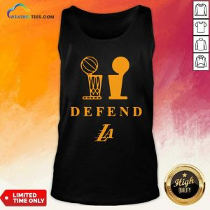 Lebron Lakers Trophy Defend Tank Top - Design By Weathertees.com