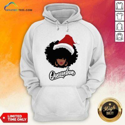 Merry Christmas Queendom Black Girl Magic Hoodie - Design By Weathertees.com