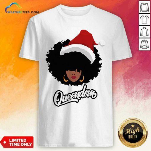 Merry Christmas Queendom Black Girl Magic Shirt - Design By Weathertees.com