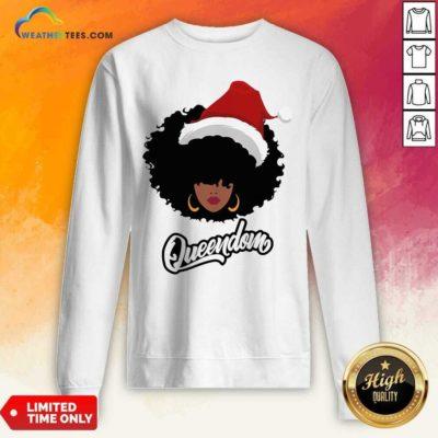 Merry Christmas Queendom Black Girl Magic Sweatshirt - Design By Weathertees.com
