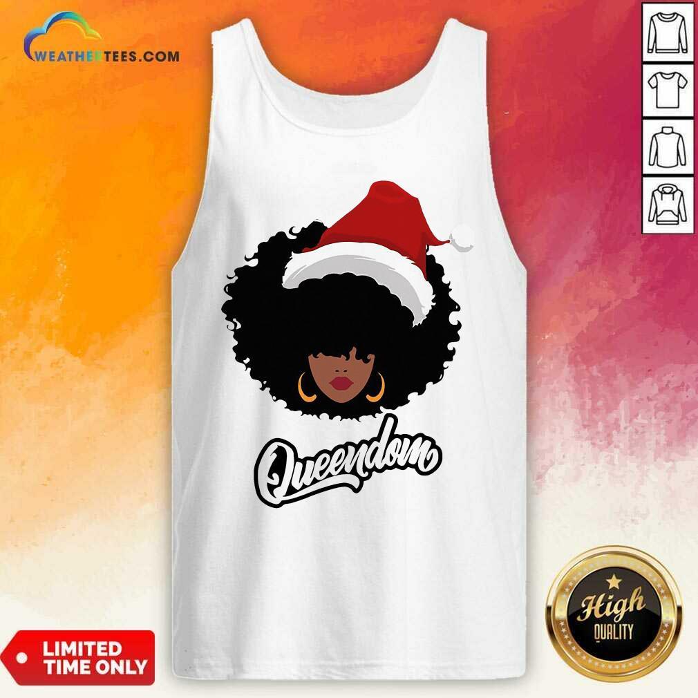Merry Christmas Queendom Black Girl Magic Tank Top - Design By Weathertees.com