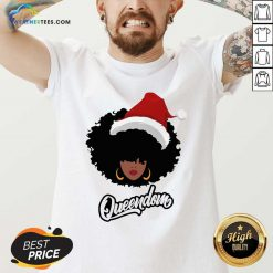 Merry Christmas Queendom Black Girl Magic V-neck - Design By Weathertees.com