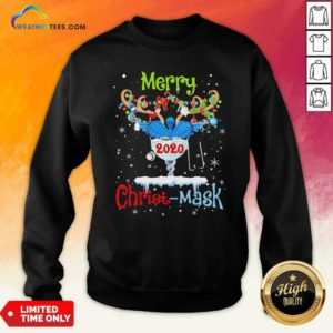 Merry CNA 2020 Christ Mask Christmas Sweatshirt - Design By Weathertees.com