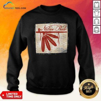 Peace Pipe Native Pride Sweatshirt - Design By Weathertees.com