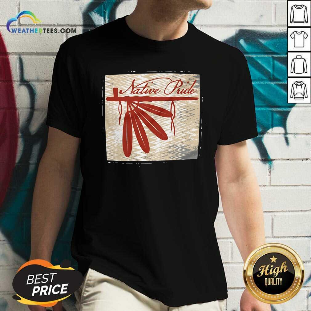 Peace Pipe Native Pride V-neck - Design By Weathertees.com