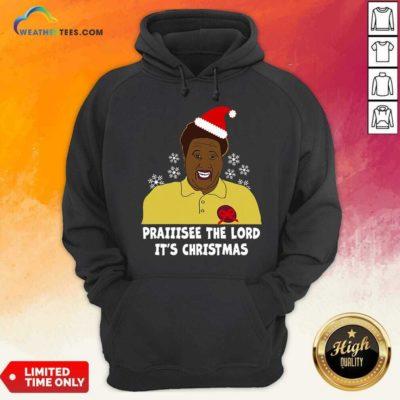 Santa Hellur Praise The Lord It's Christmas Hoodie - Design By Weathertees.com