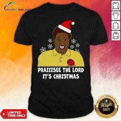 Santa Hellur Praise The Lord It's Christmas Shirt - Design By Weathertees.com