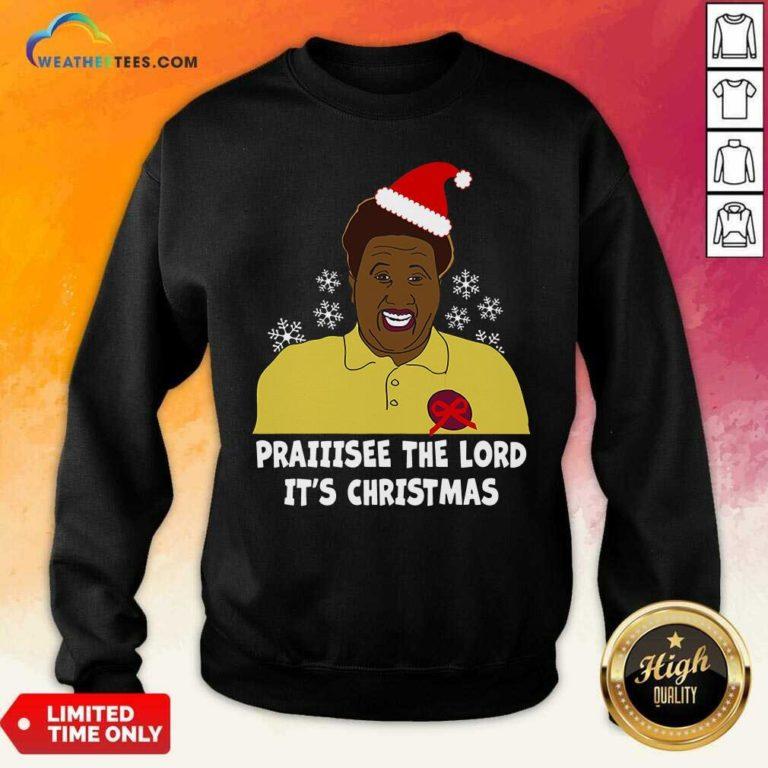Santa Hellur Praise The Lord It's Christmas Sweatshirt - Design By Weathertees.com