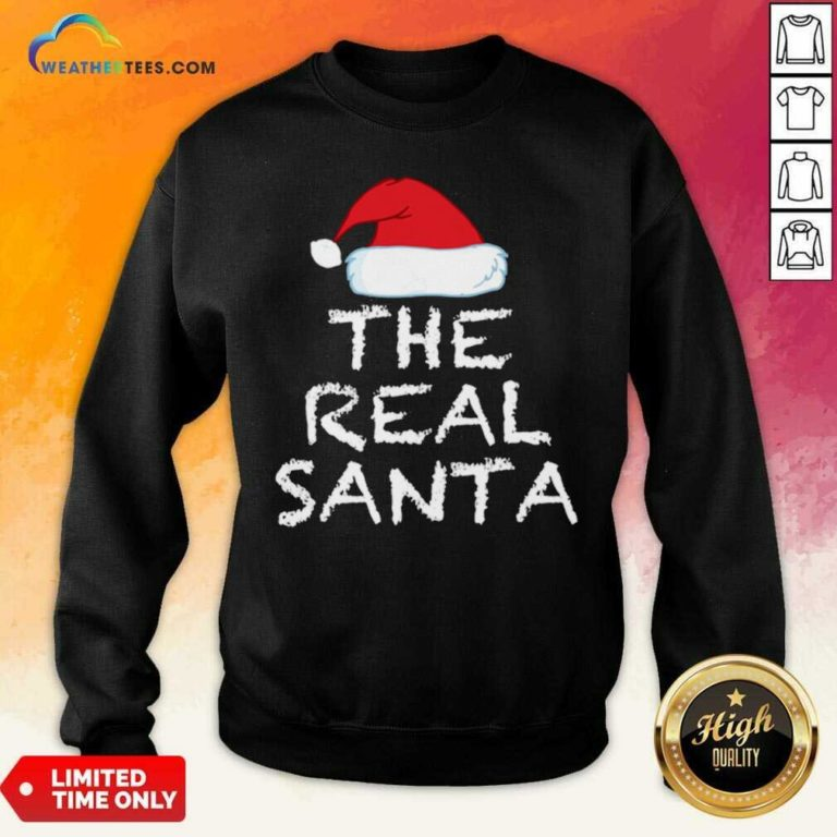 The Real Santa Christmas Holiday Sweatshirt - Design By Weathertees.com