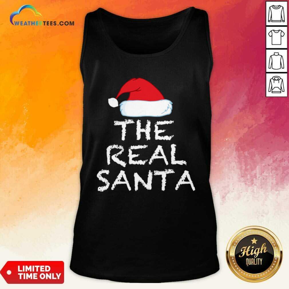 The Real Santa Christmas Holiday Tank Top - Design By Weathertees.com