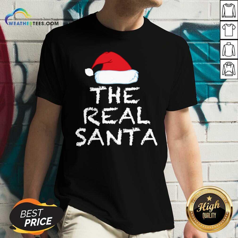 The Real Santa Christmas Holiday V-neck - Design By Weathertees.com