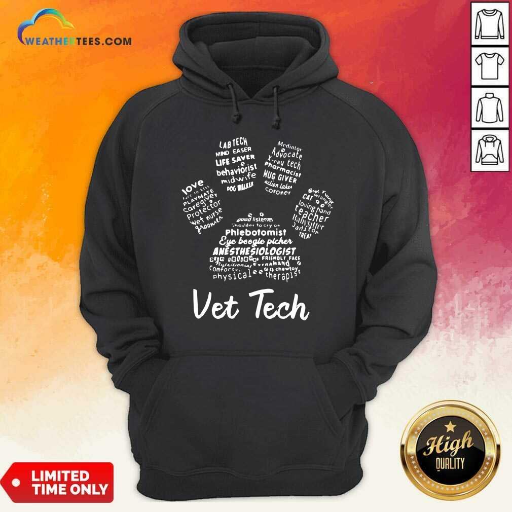 Vet Tech Paw Print Hoodie - Design By Weathertees.com