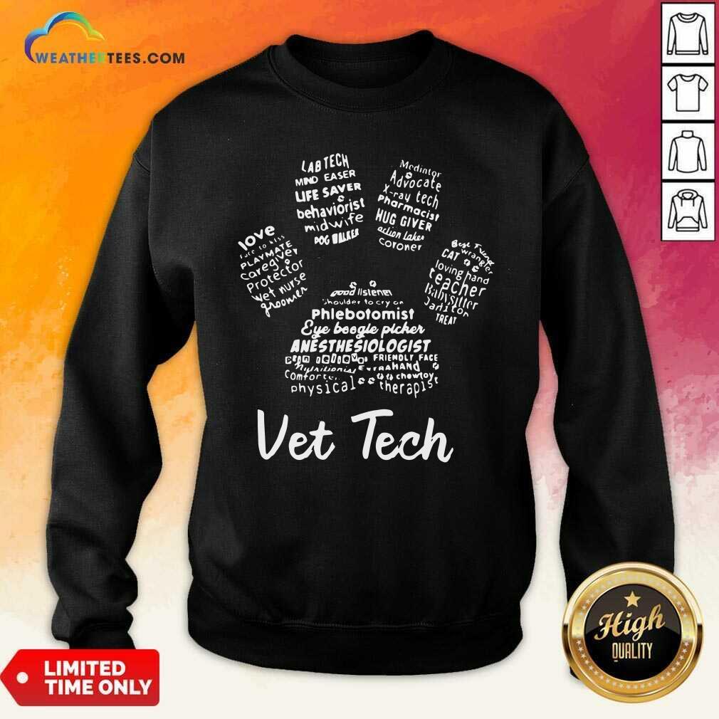 Vet Tech Paw Print Sweatshirt - Design By Weathertees.com
