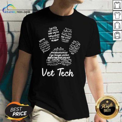 Vet Tech Paw Print V-neck - Design By Weathertees.com