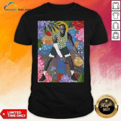 Lebron James Flowers Shirt - Design By Weathertees.com