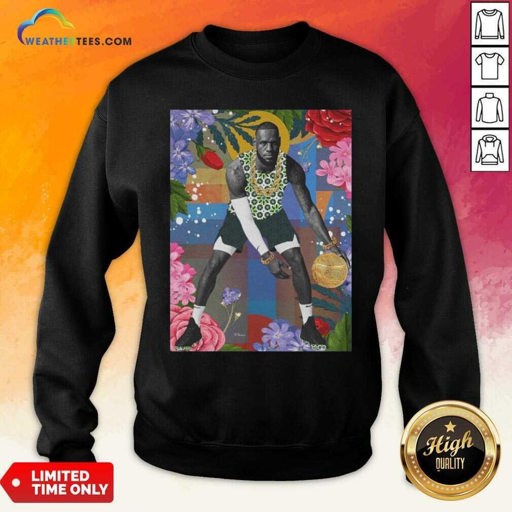Lebron James Flowers Sweatshirt - Design By Weathertees.com