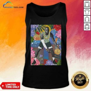 Lebron James Flowers Tank Top - Design By Weathertees.com