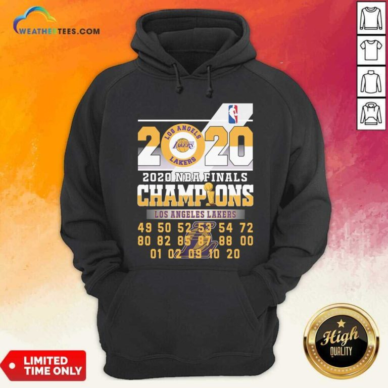 Los Angeles Lakers 2020 Nba Finals Champions 49 50 52 53 54 Hoodie - Design By Weathertees.com
