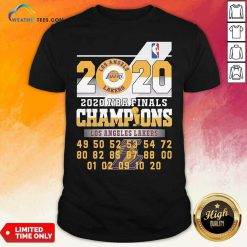 Los Angeles Lakers 2020 Nba Finals Champions 49 50 52 53 54 Shirt - Design By Weathertees.com