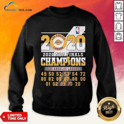 Los Angeles Lakers 2020 Nba Finals Champions 49 50 52 53 54 Sweatshirt - Design By Weathertees.com