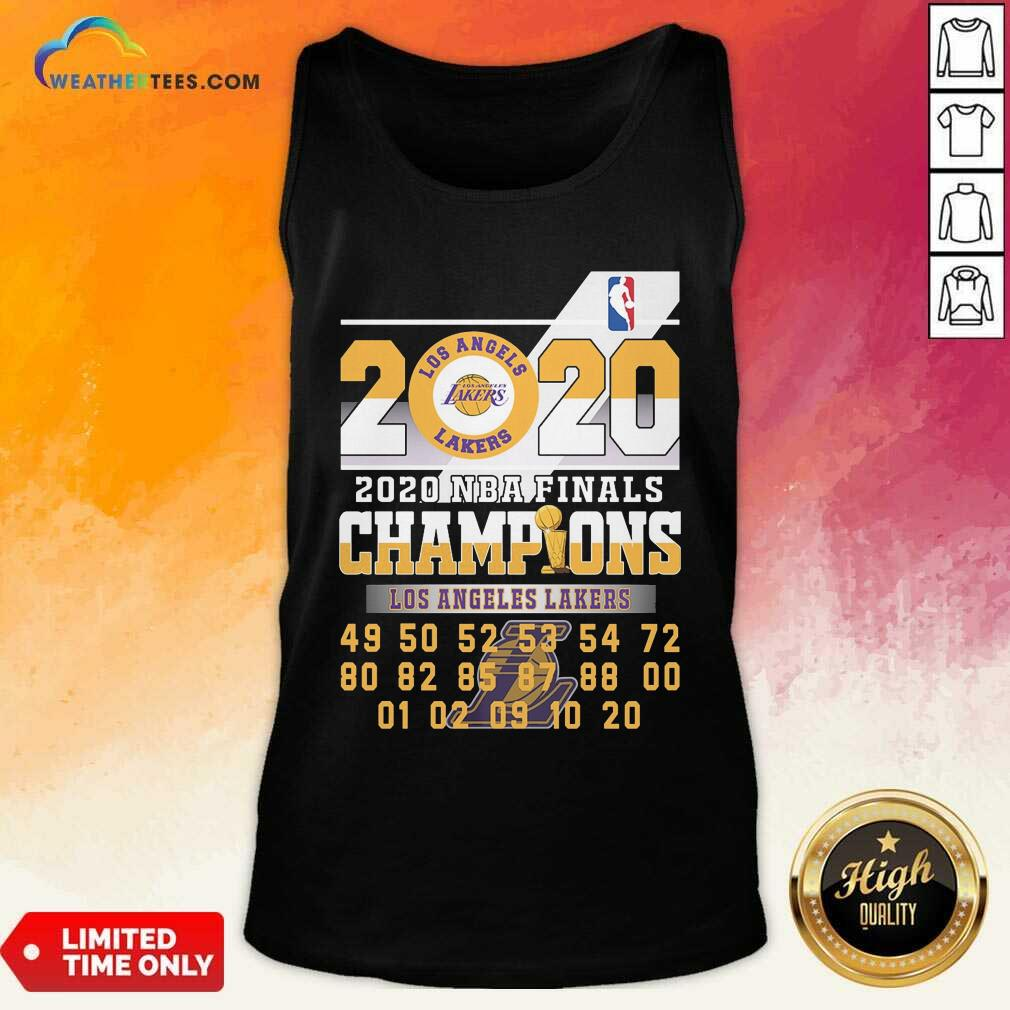 Los Angeles Lakers 2020 Nba Finals Champions 49 50 52 53 54 Tank Top - Design By Weathertees.com