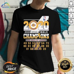 Los Angeles Lakers 2020 Nba Finals Champions 49 50 52 53 54 V-neck - Design By Weathertees.com