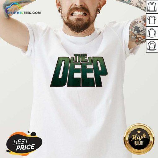 The Deep Logo V-neck - Design By Weathertees.com