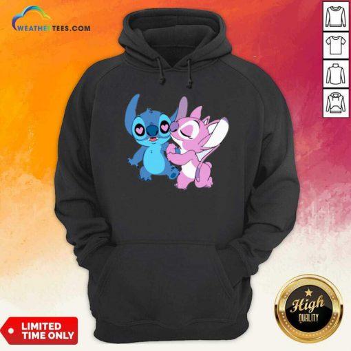 Couple Stitch Angel Love Hoodie - Design By Weathertees.com