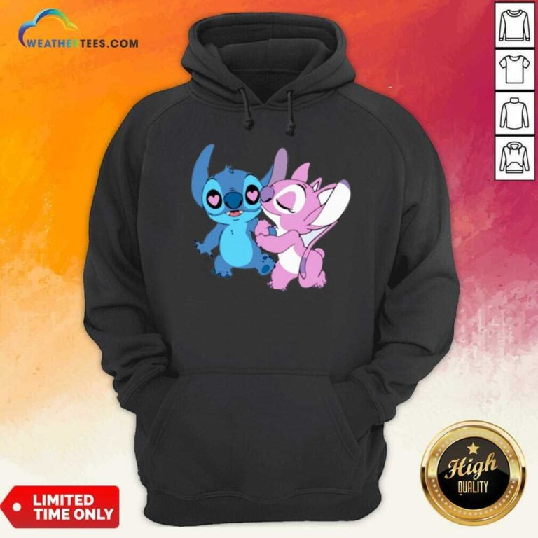 Couple Stitch Angel Love Hoodie - Design By Weathertees.com