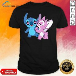 Couple Stitch Angel Love Shirt - Design By Weathertees.com