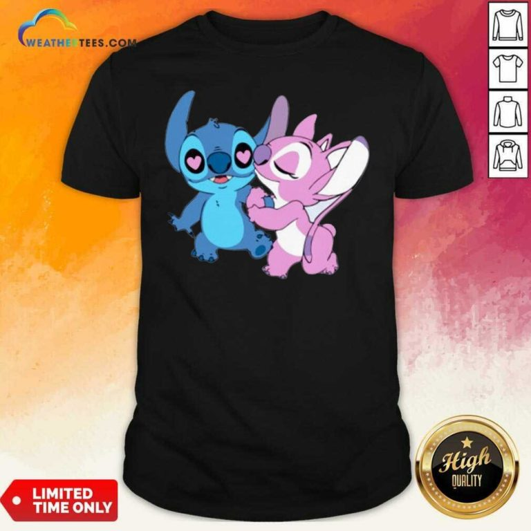 Couple Stitch Angel Love Shirt - Design By Weathertees.com