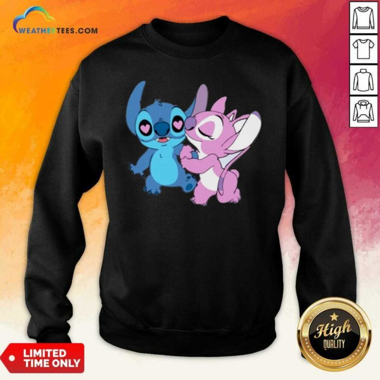 Couple Stitch Angel Love Sweatshirt - Design By Weathertees.com