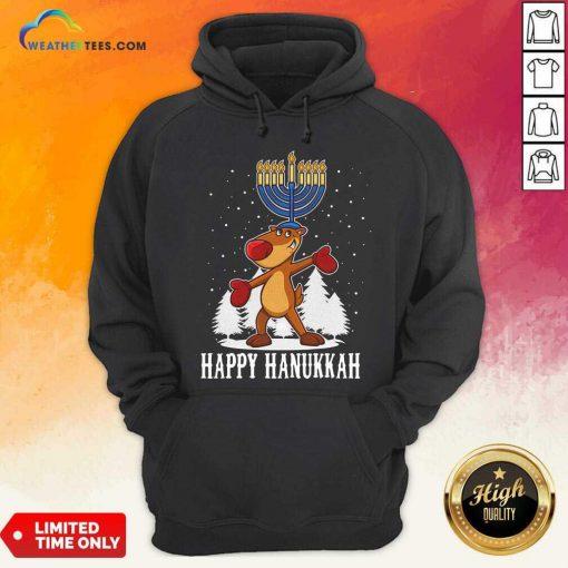 Happy Hanukkah Merry Christmas Hoodie - Design By Weathertees.com