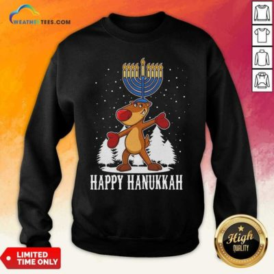 Happy Hanukkah Merry Christmas Sweatshirt - Design By Weathertees.com